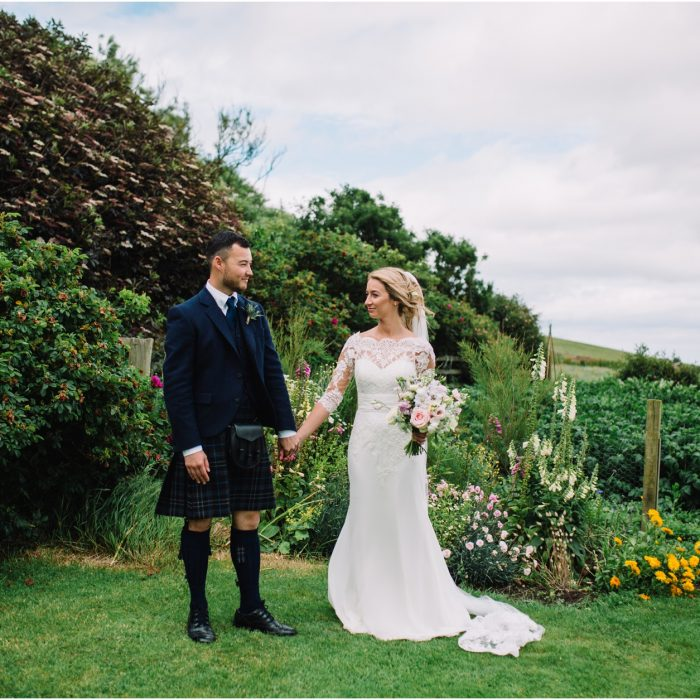 Rustic barn wedding at Cow Shed, Crail - Courtney & Jamie