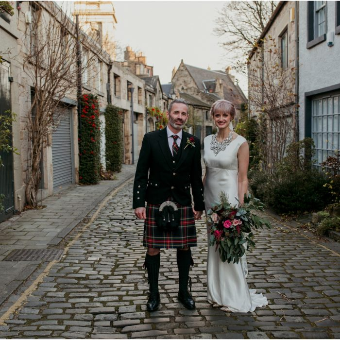 Elegant and vintage inspired winter Edinburgh wedding at Georgian House - Alison & Robin
