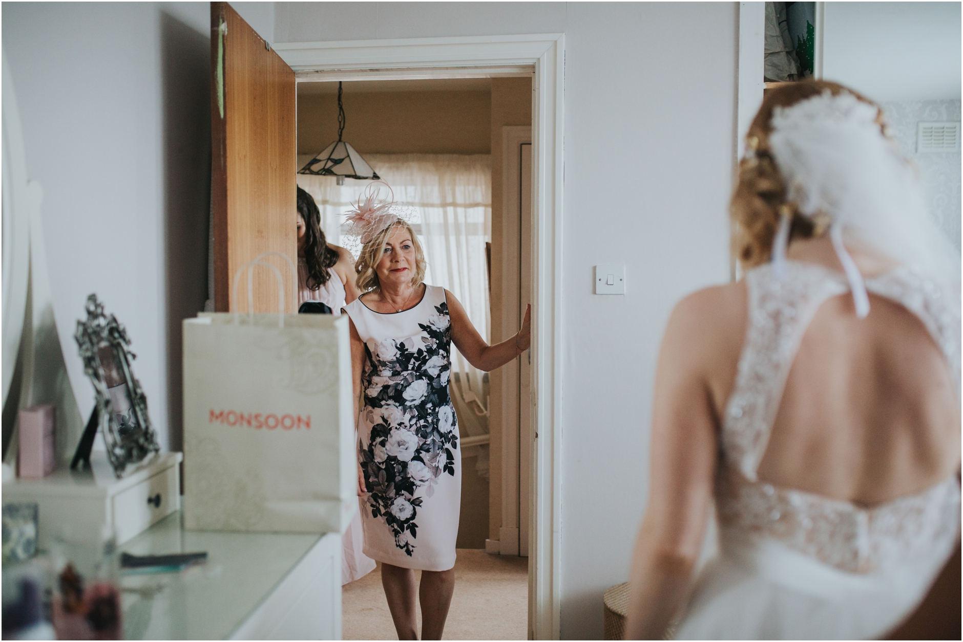 bride getting ready for wedding at thomas morton hall