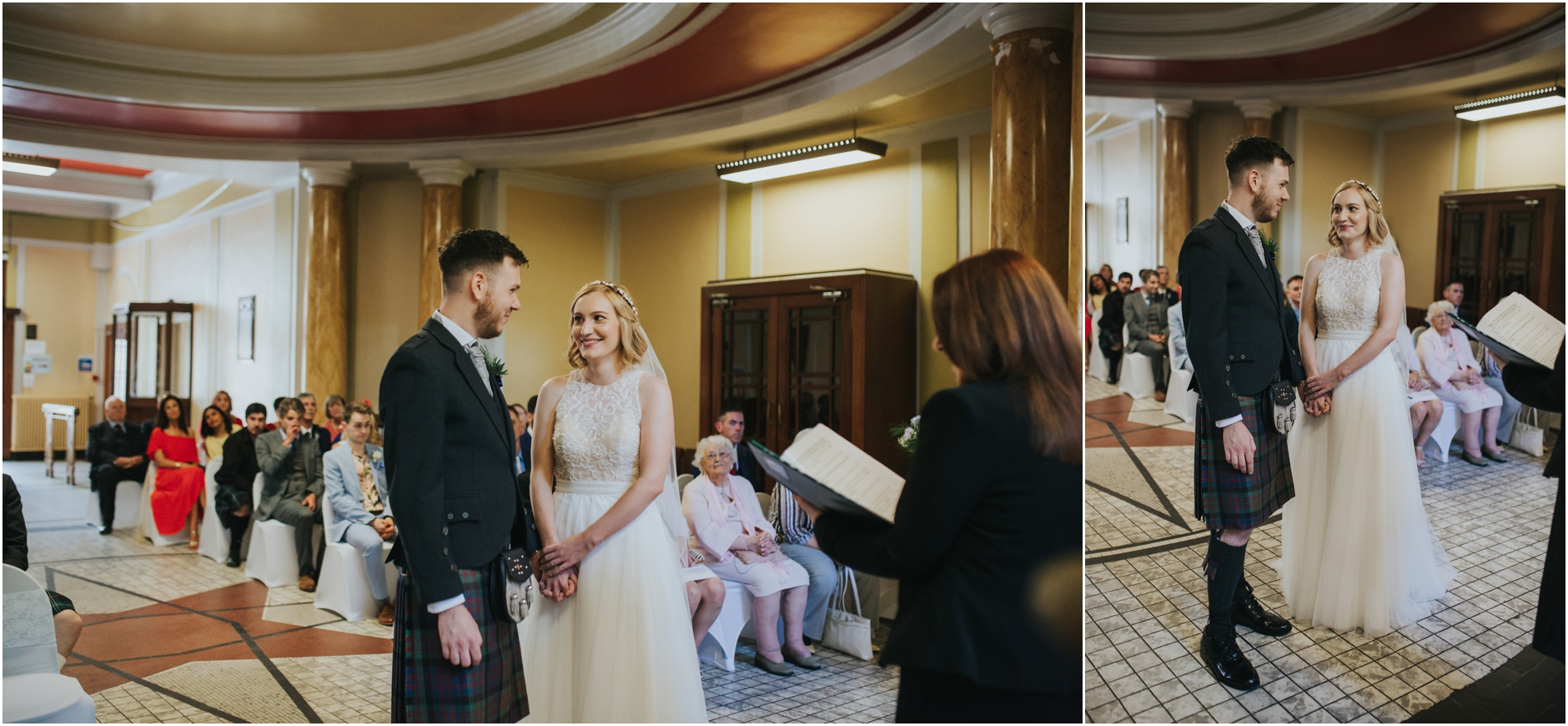 humanist wedding ceremony thomas morton hall leith theatre