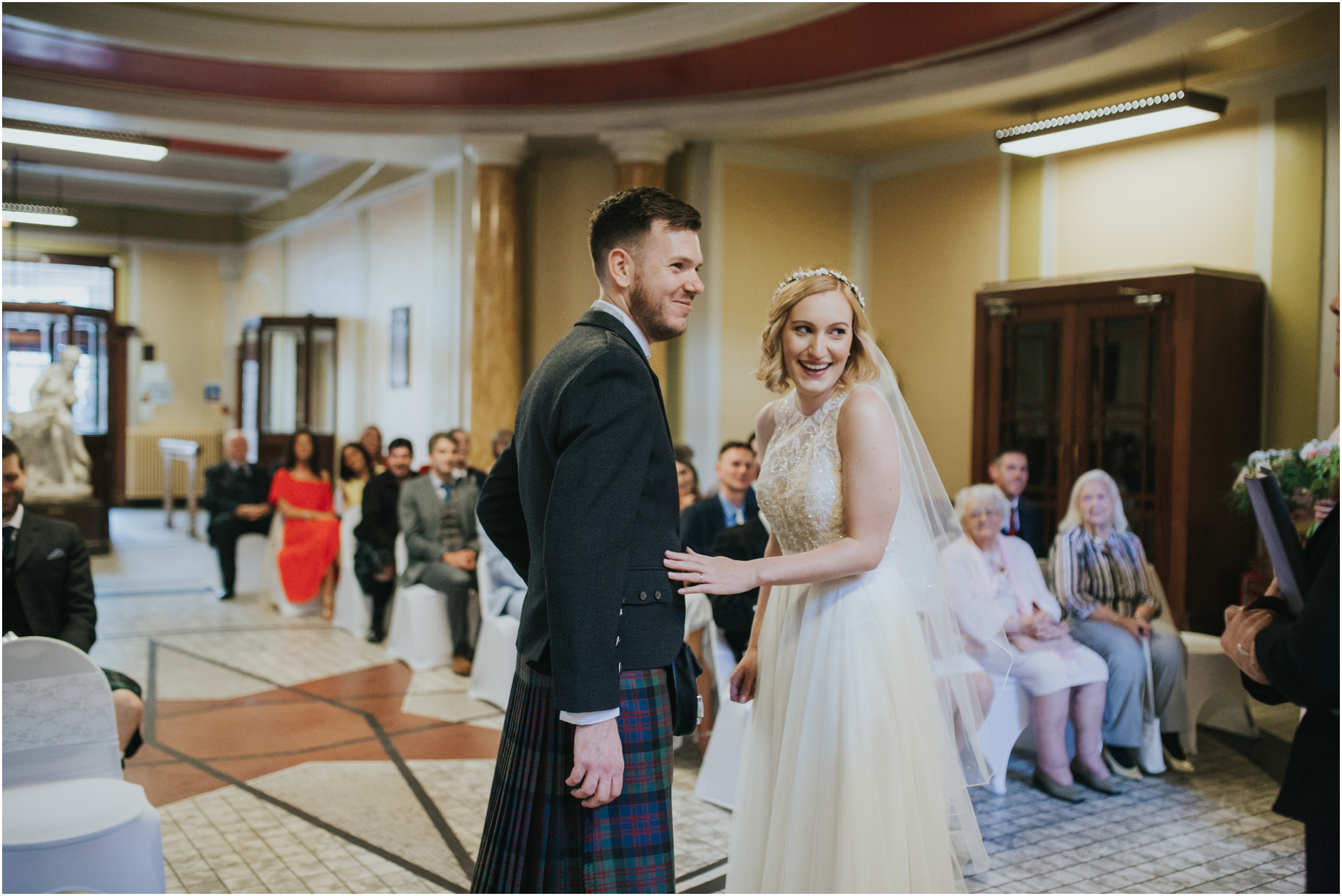 wedding ceremony at thomas morton hall edinburgh leith theatre
