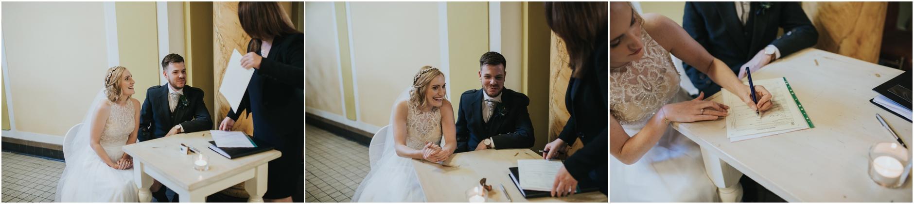 wedding ceremony at thomas morton hall edinburgh leith theatre