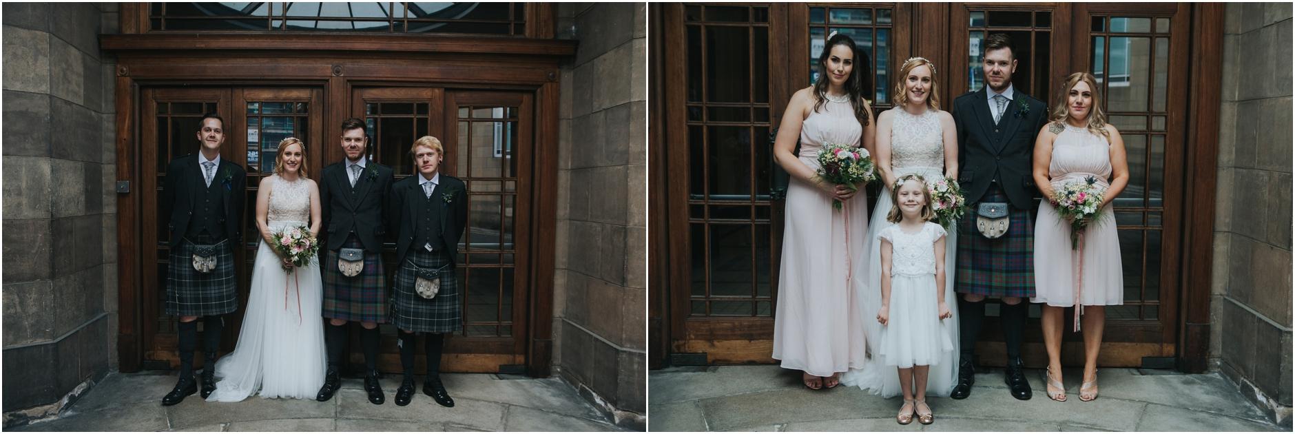 wedding portraits thomas morton hall leith theatre edinburgh