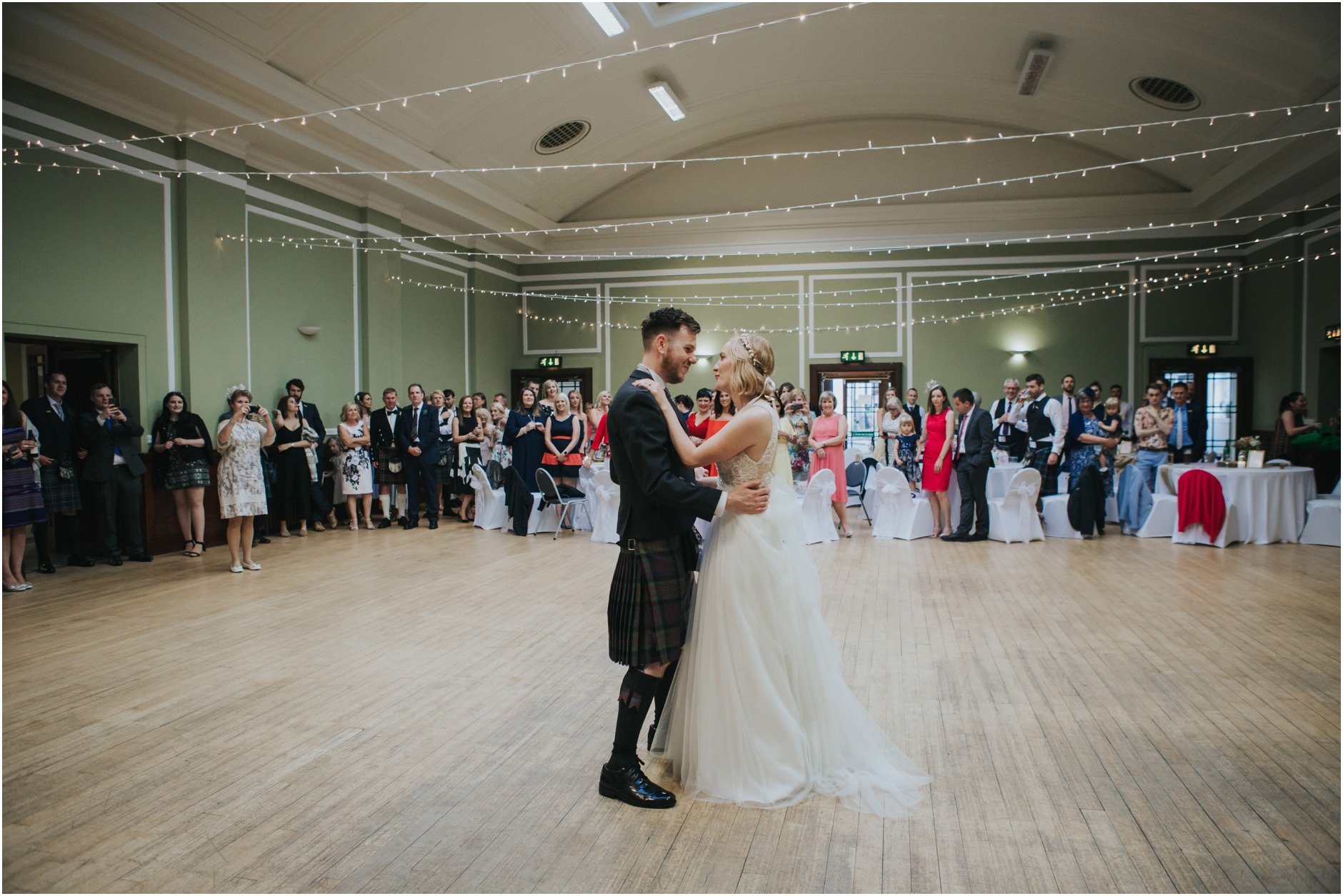 couple first dance wedding thomas morton hall edinburgh