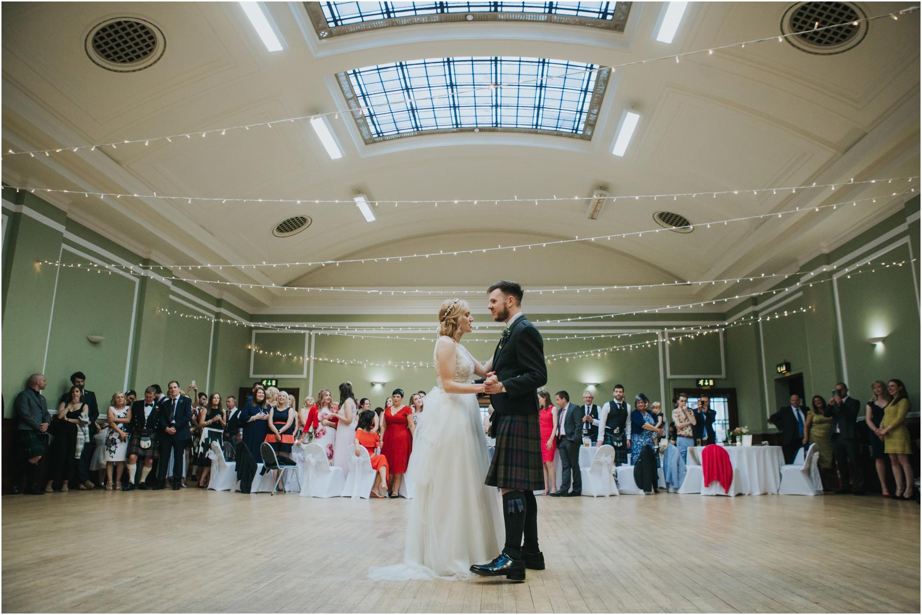 couple first dance wedding thomas morton hall edinburgh
