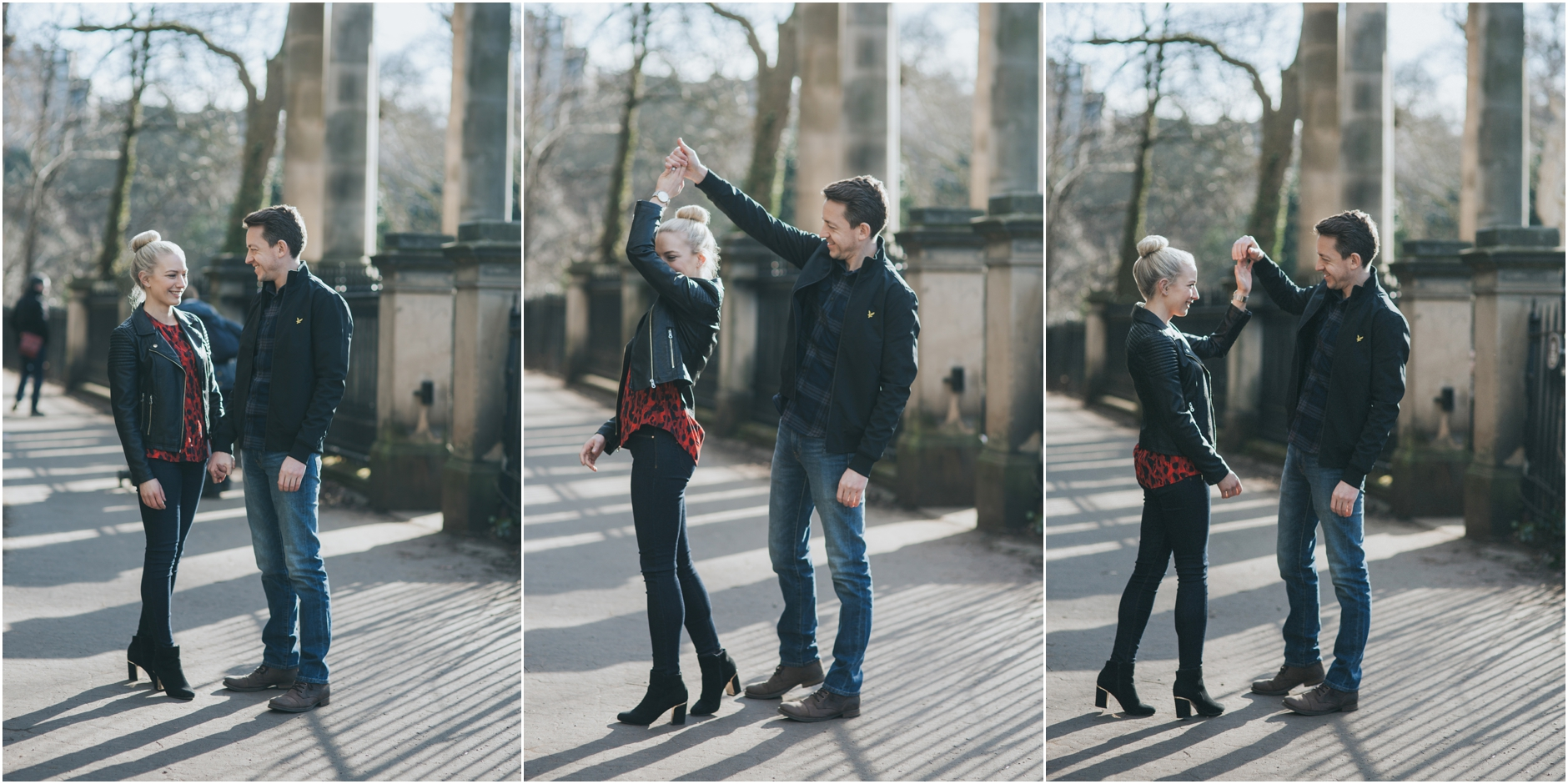 dean village edinburgh wedding engagement photoshoot