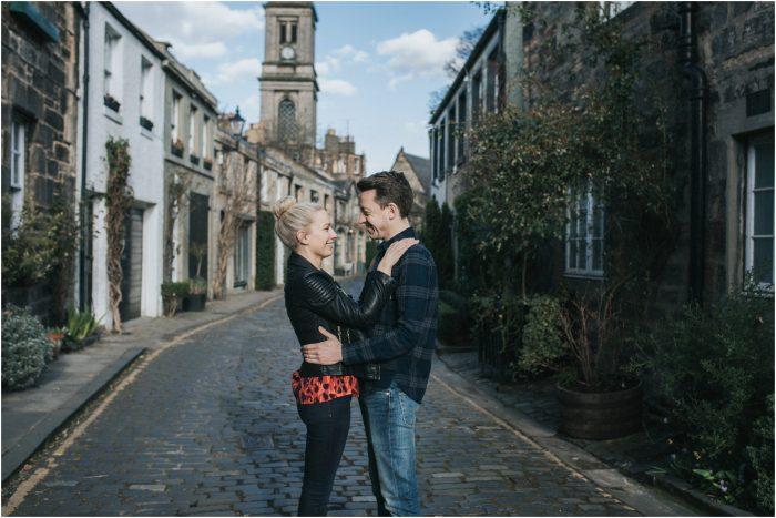 Edinburgh Stockbridge & Dean Villige Engagement Shoot - Leanne & Trevor