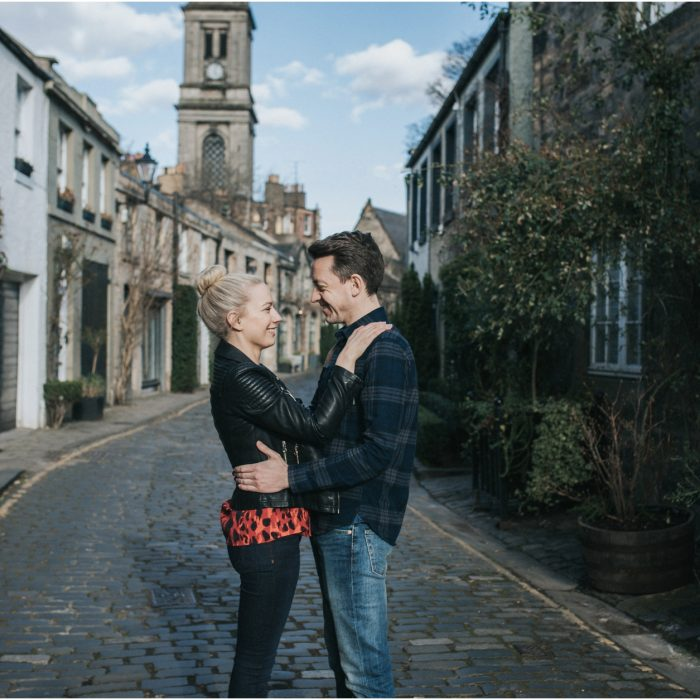 Edinburgh Stockbridge & Dean Villige Engagement Shoot - Leanne & Trevor
