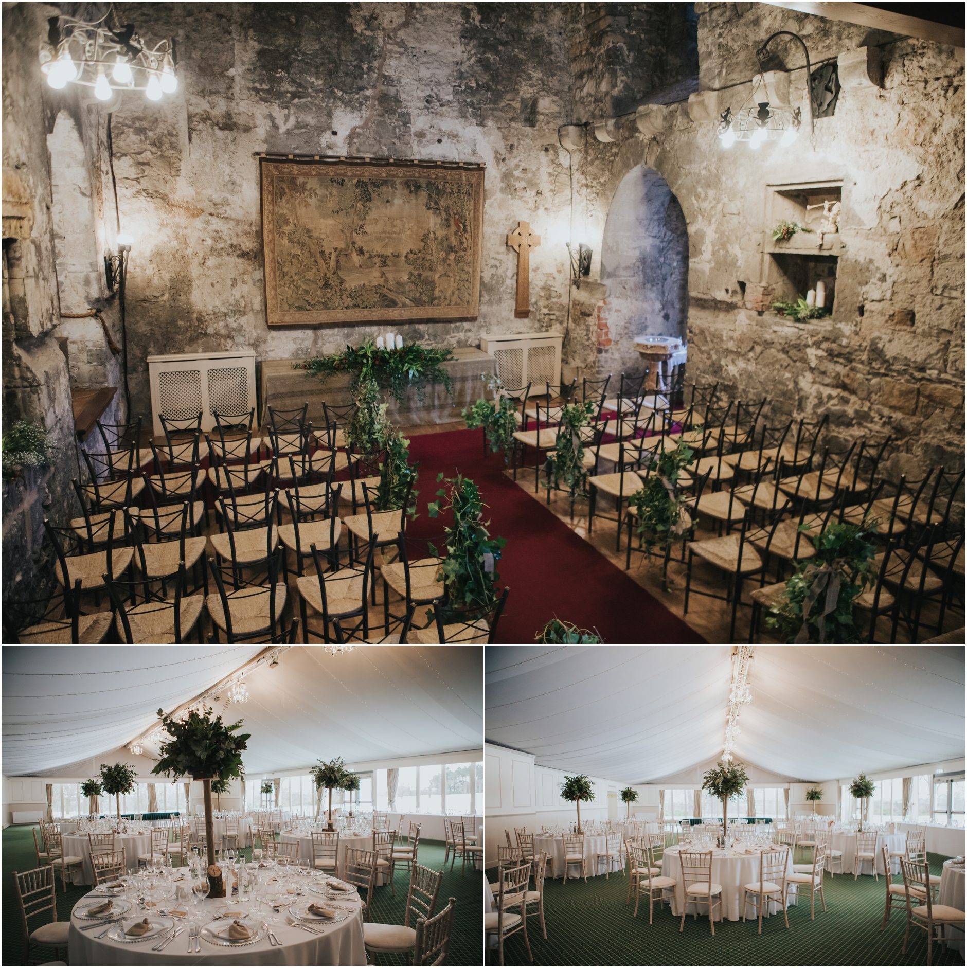 dundas castle wedding venue ceremony set up