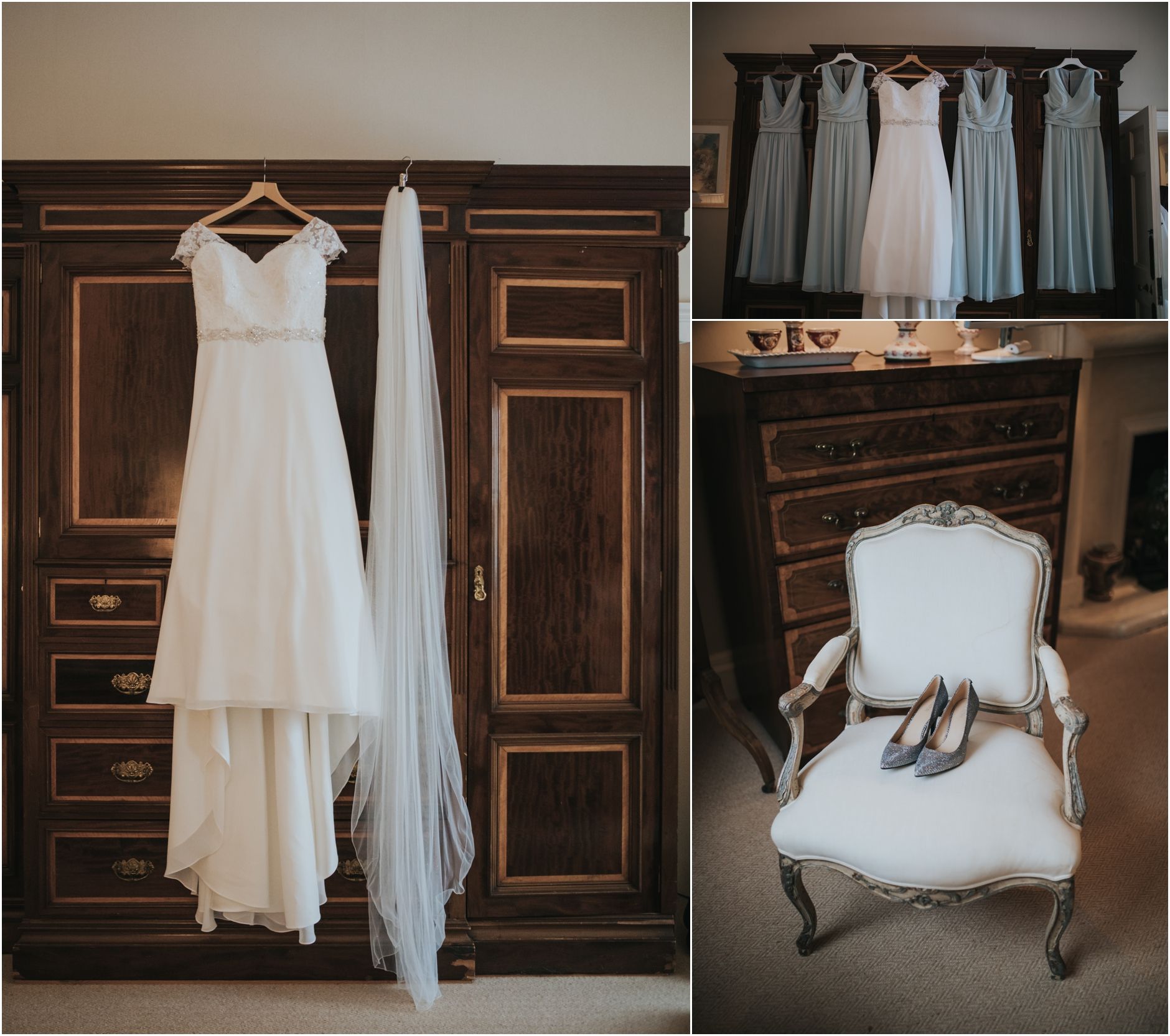 dundas castle wedding brides dress and shoes