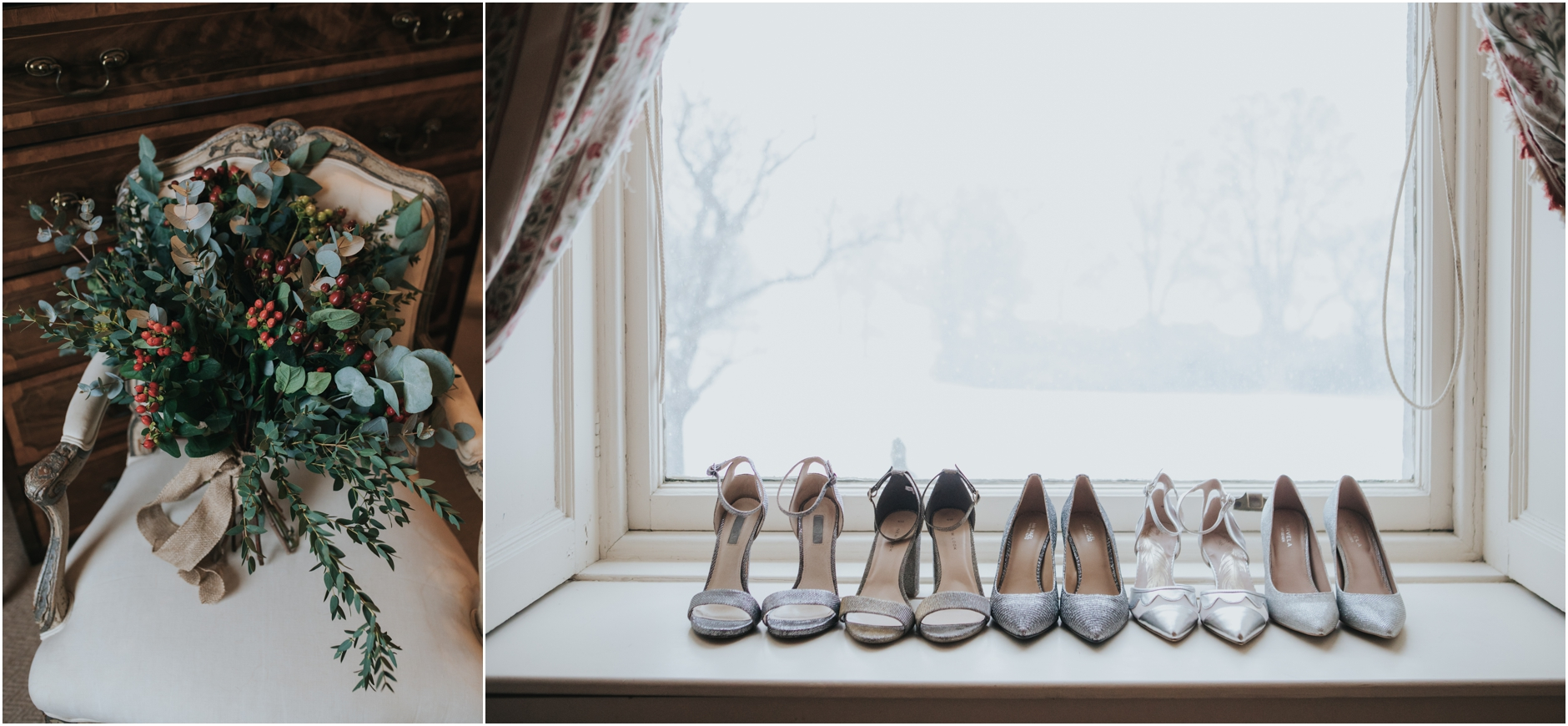 dundas castle wedding bridesmaids silver shoes