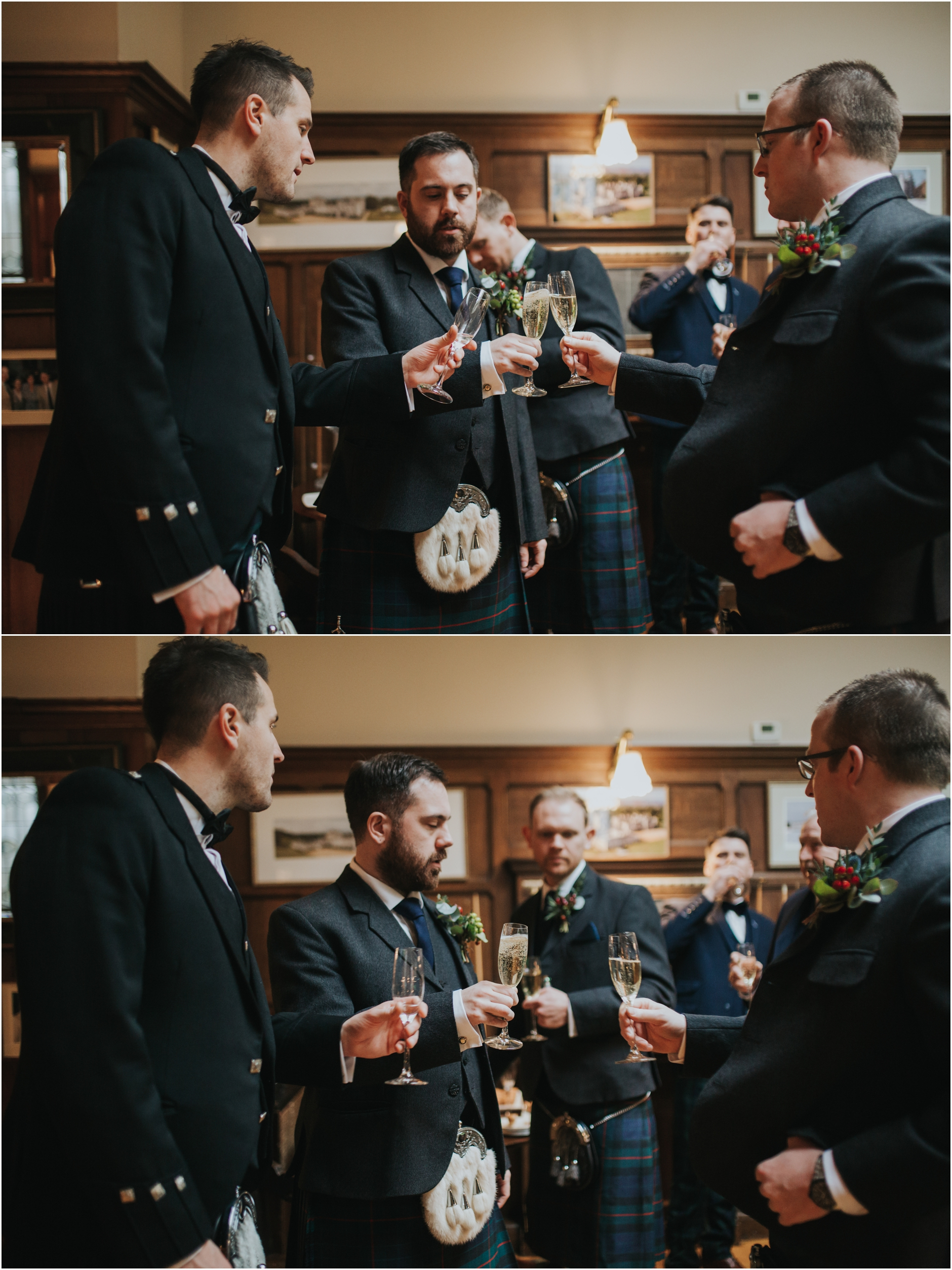 dundas castle wedding groom and groomsmen playing pool