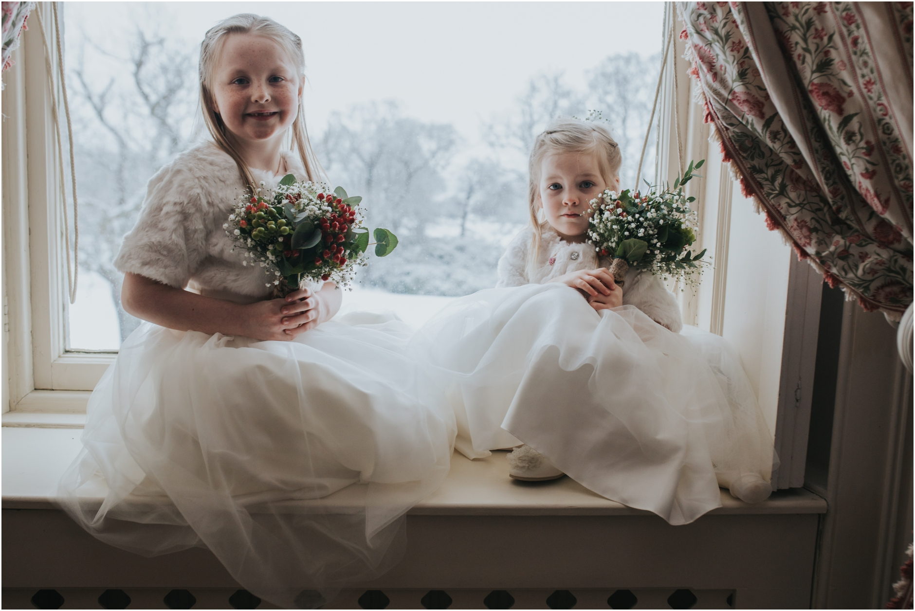 dundas castle wedding flower girls