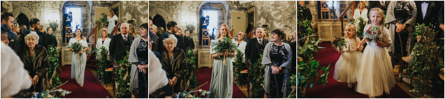 dundas castle wedding winter