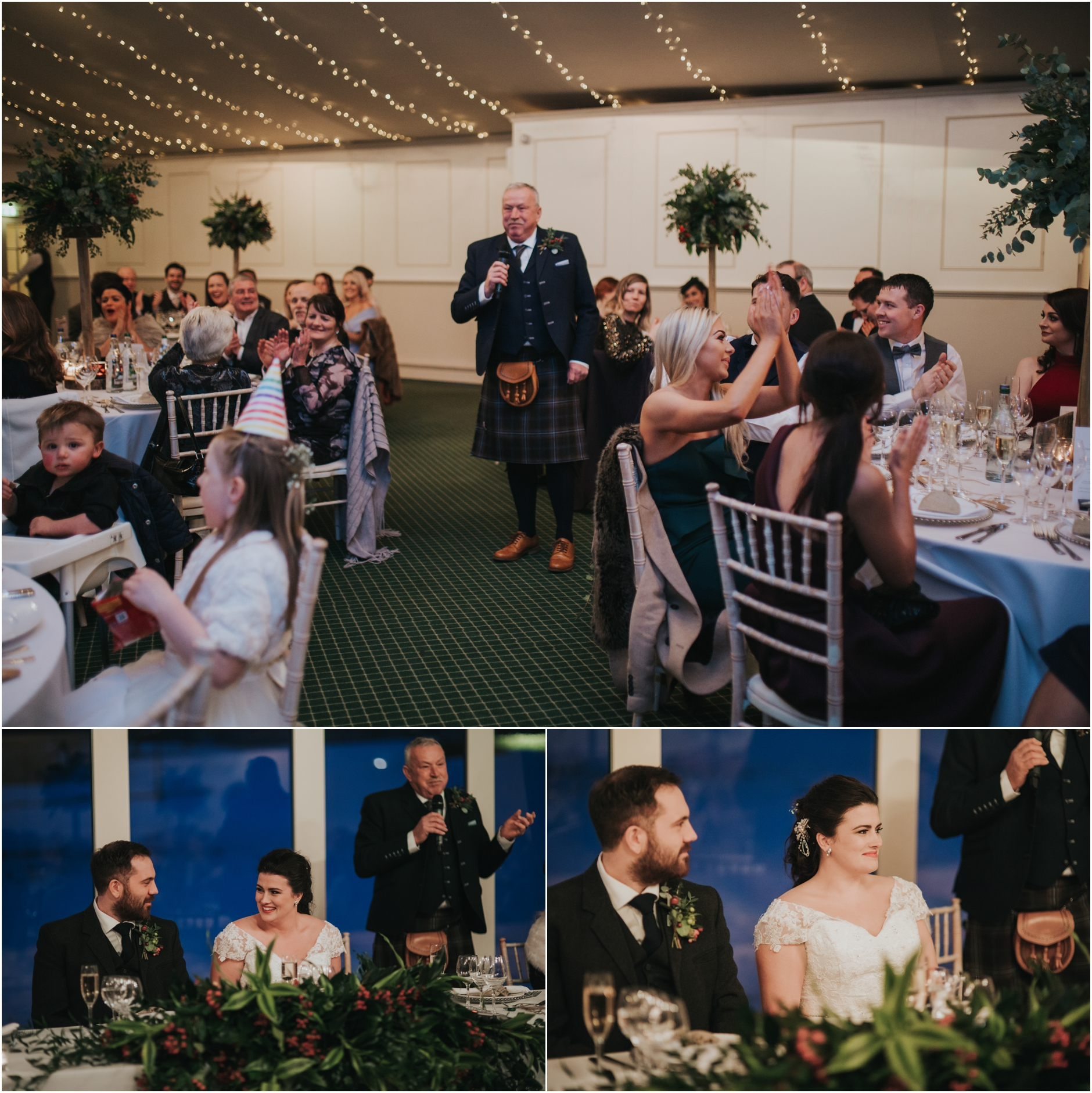 dundas castle wedding winter edinburgh
