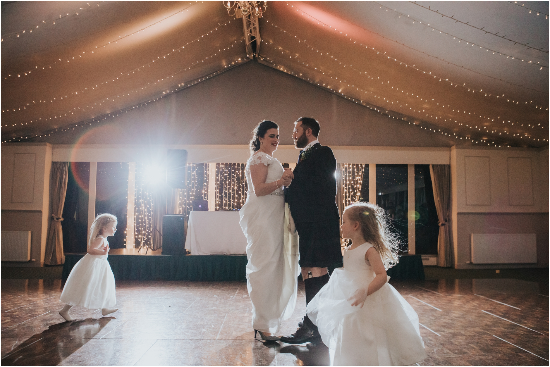 dundas castle wedding winter edinburgh first dance