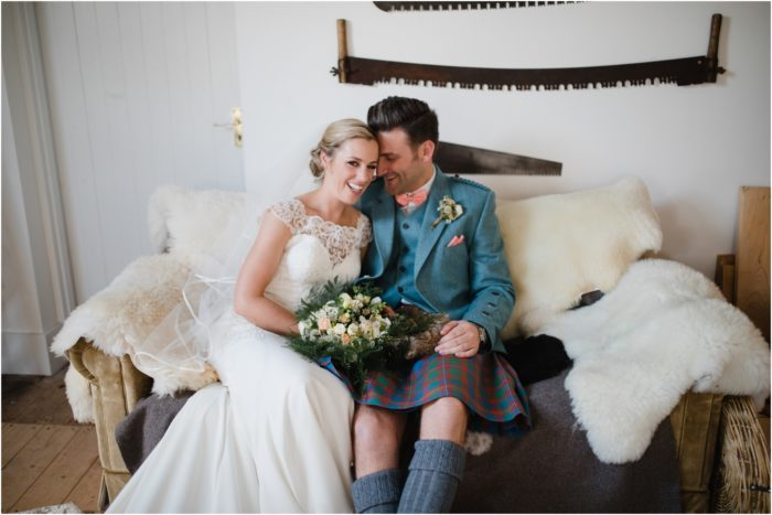 Rustic barn wedding at Guardswell Farm, Perthshire - Shona & Liam