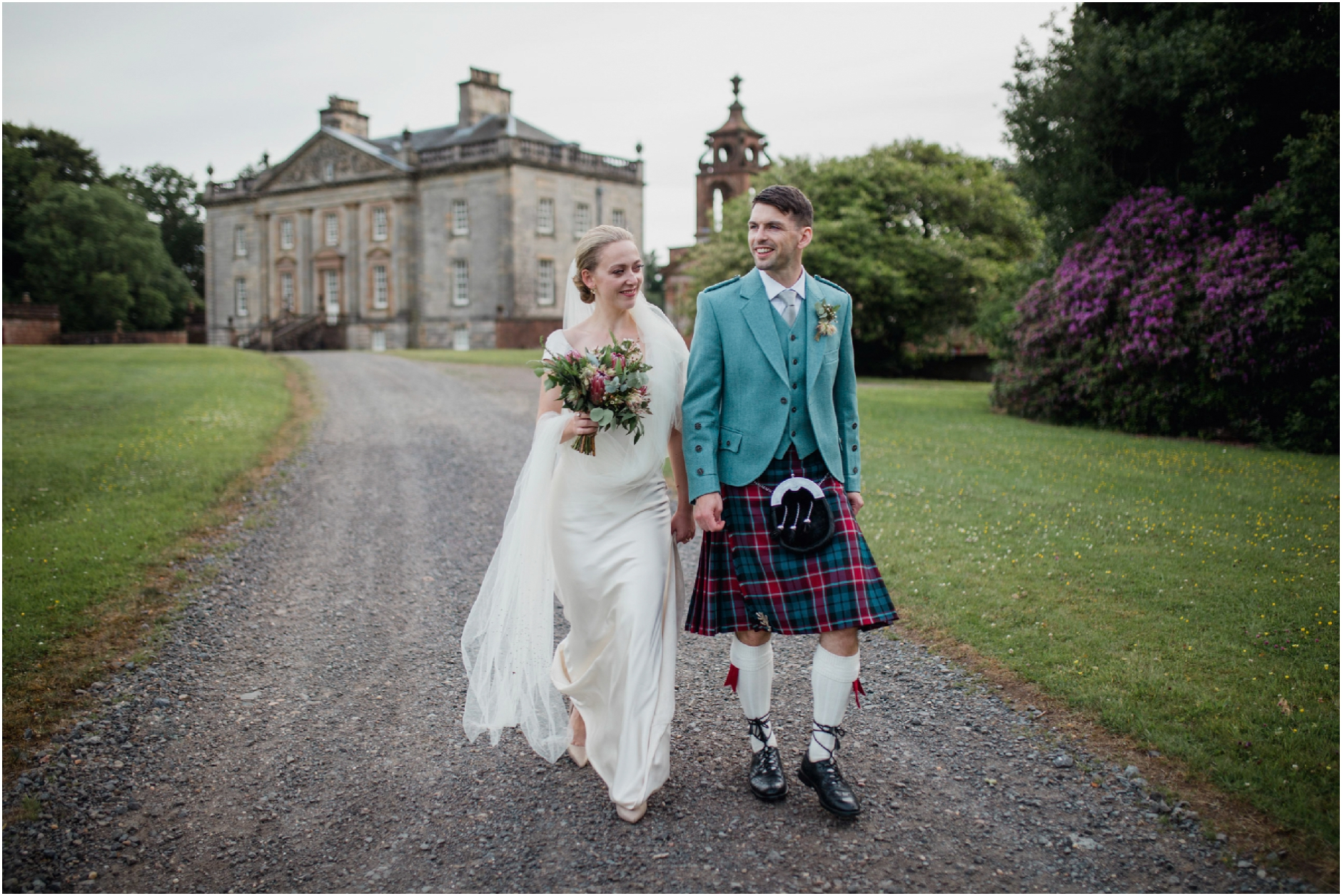 Auchinleck house wedding boswell coach house