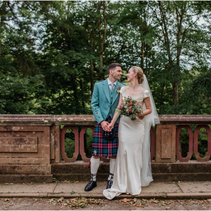 Vintage safari wedding Boswell Coach House, Auchinleck Estate - Iona & Bill