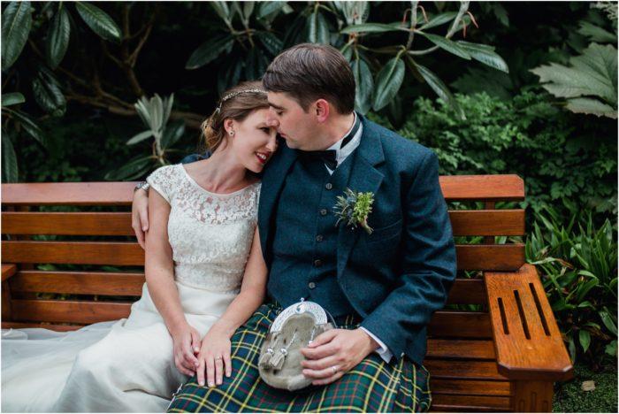 Laid-back sunny wedding at the Royal Botanical Gardens, Edinburgh - Sally & Simon