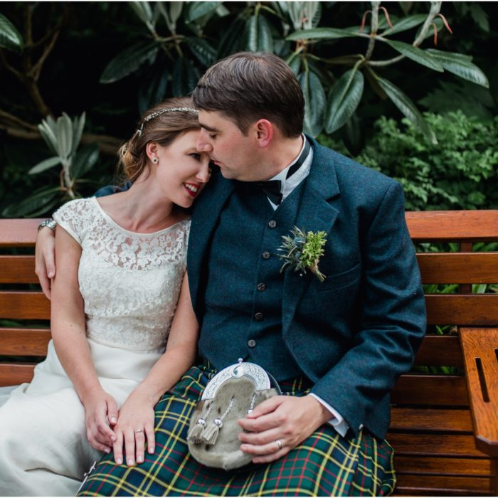 Laid-back sunny wedding at the Royal Botanical Gardens, Edinburgh - Sally & Simon