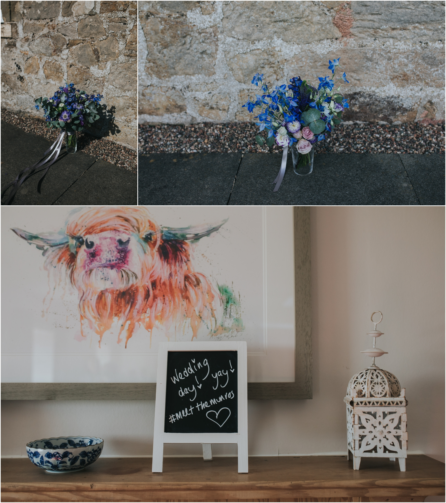 rustic  barn wedding cow shed crail