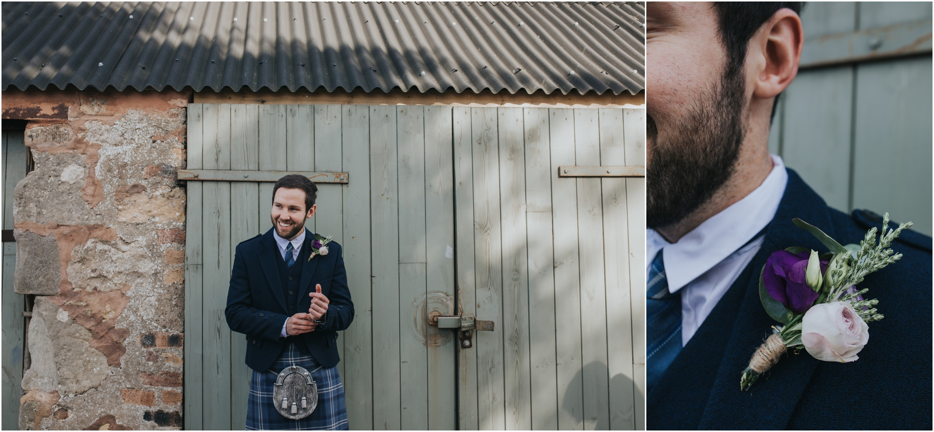 rustic barn wedding scotland