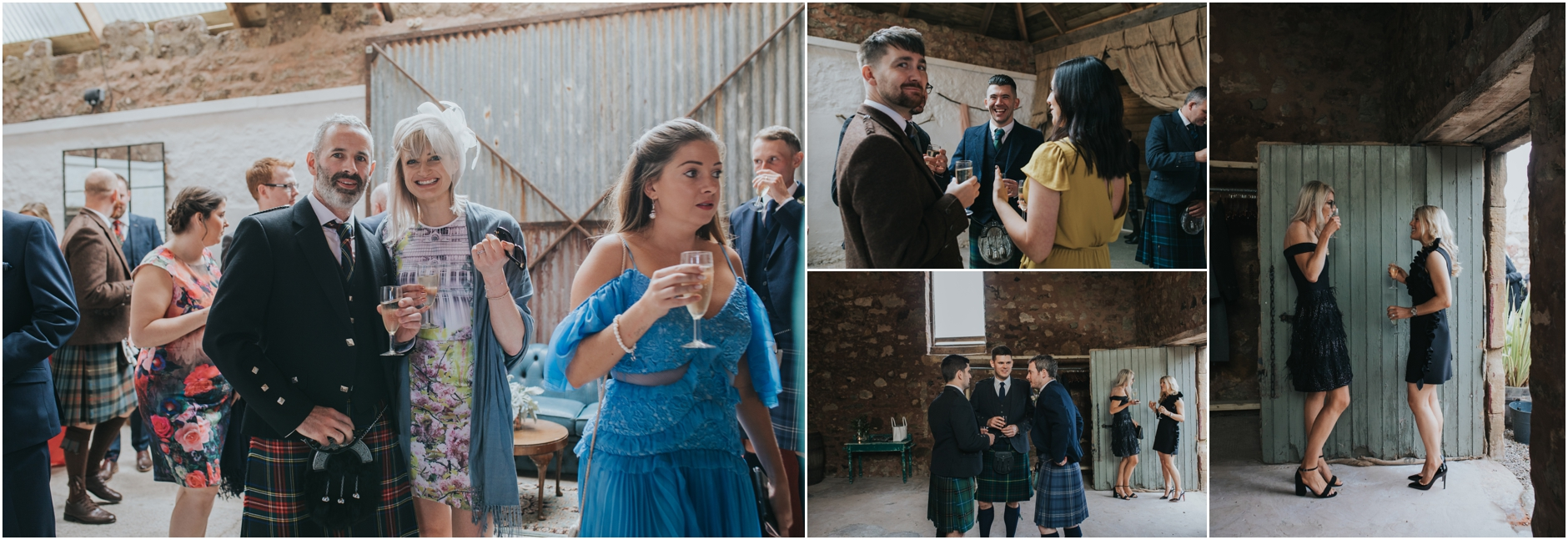 althernartive barn wedding scotland