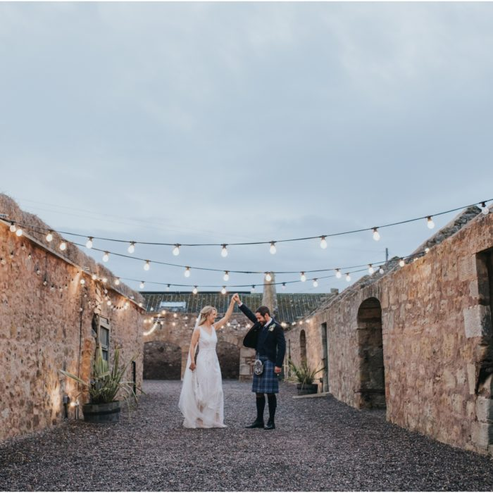 Rustic and stylish wedding at Cow Shed, Crail- Gemma & Andy