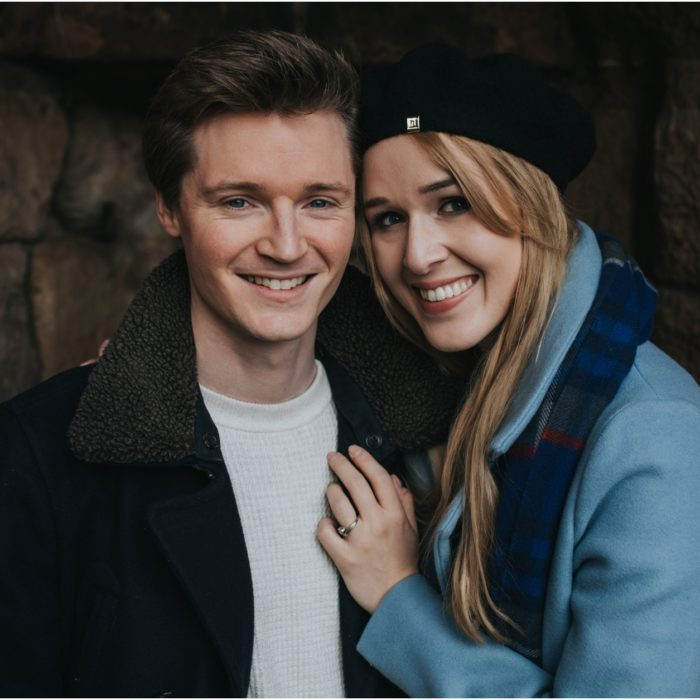 Edinburgh Engagement Shoot at Roslin Glen - Georgina & Alex
