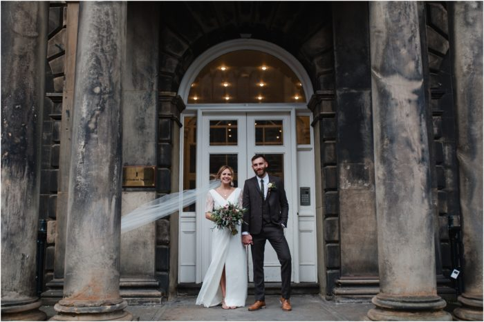 Stylish Edinburgh Elopement at Lothian Chambers & Hotel Du Vin - Rhona & Neil