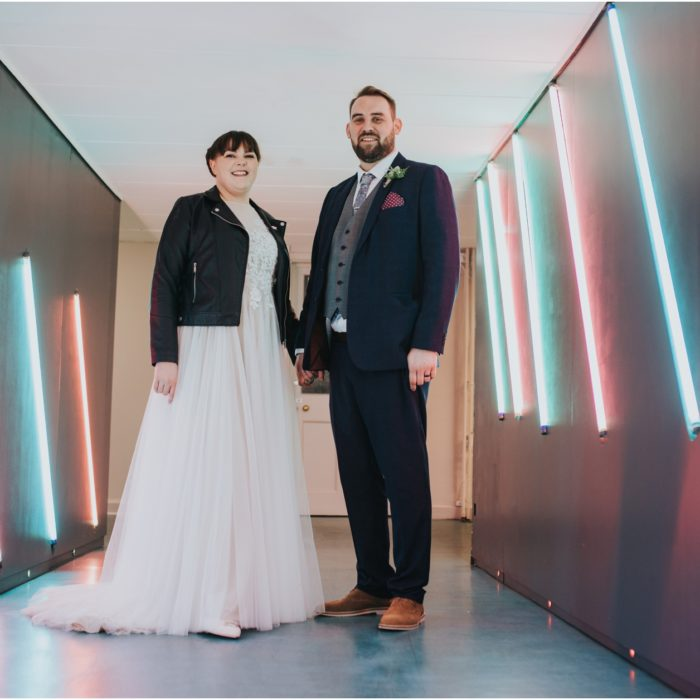 Rock n Roll Alternative Wedding at Summerhall, Edinburgh - Emma & Graham