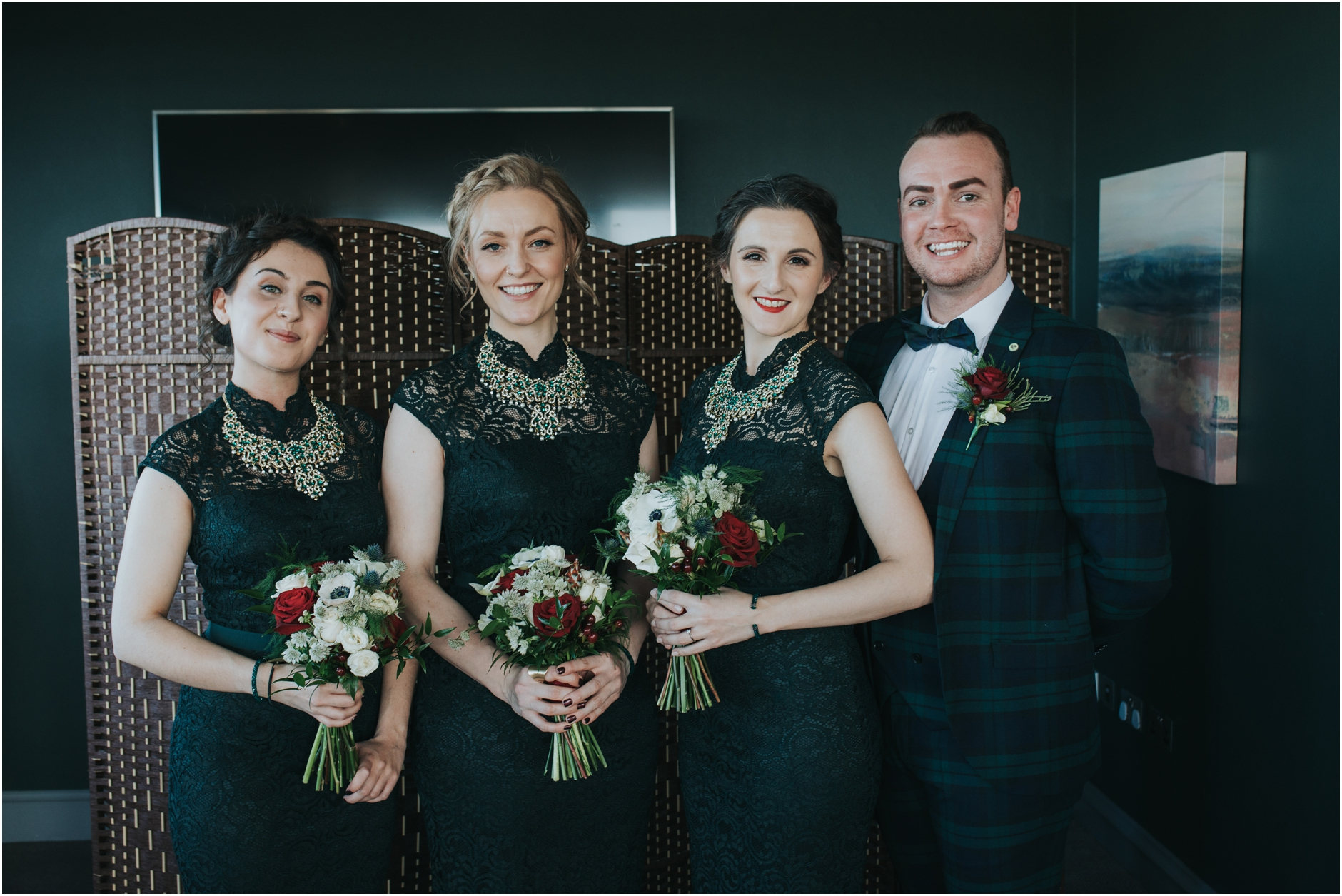 winter wedding at pricipal hotel edinburgh