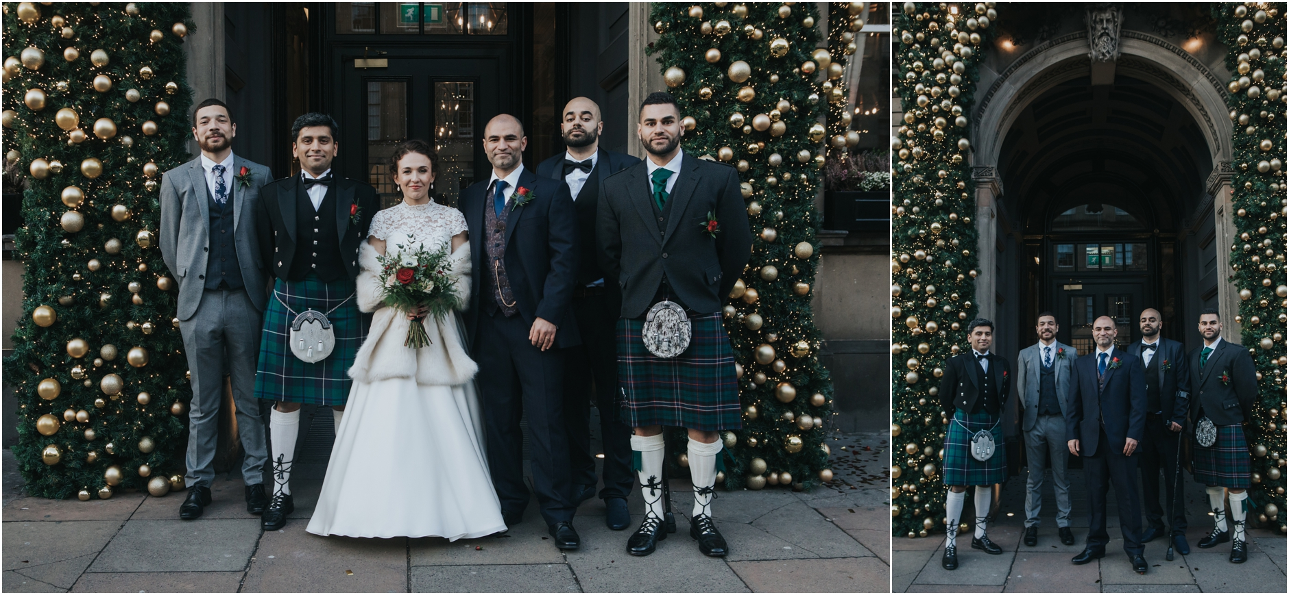 winter edinburgh wedding photos