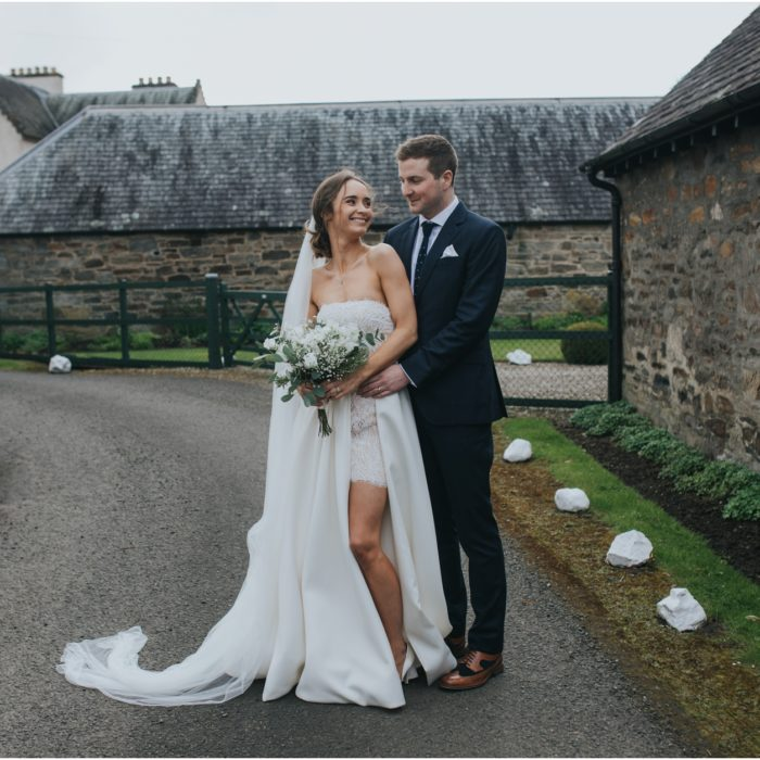 A rustic spring Fortingall Village Hall wedding - Emma & Conor