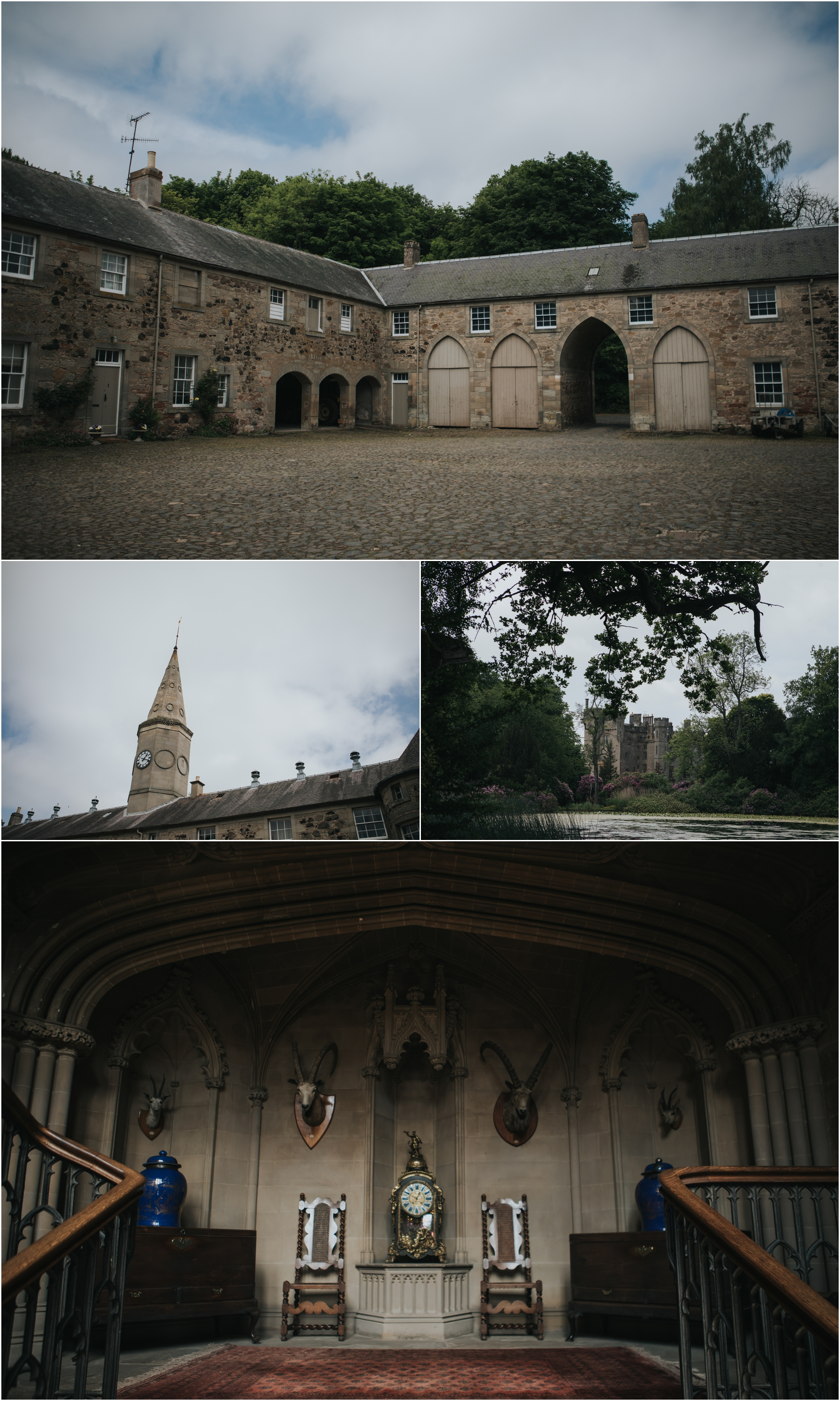 duns castle scottish castle wedding
