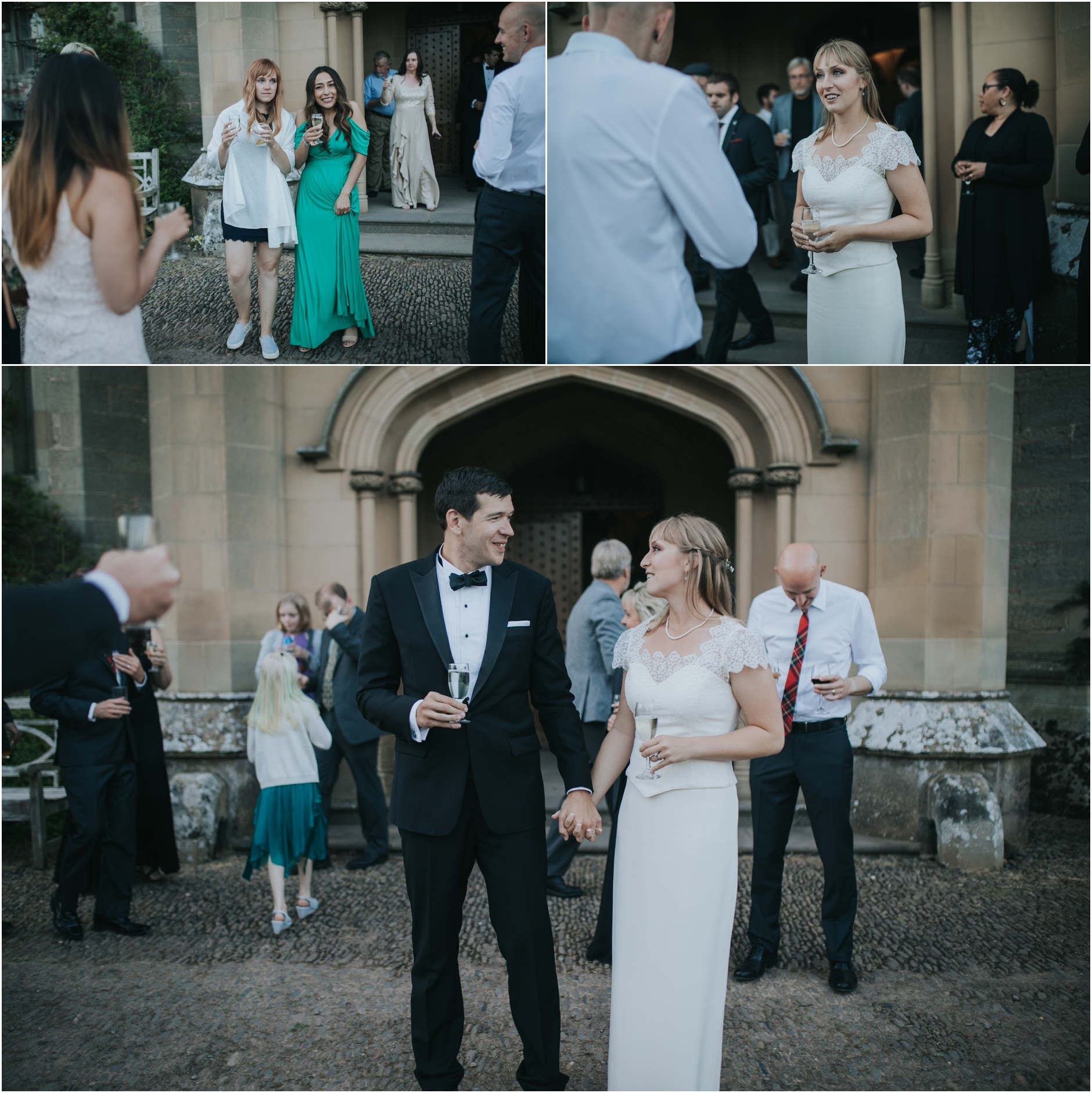 duns castle wedding photos