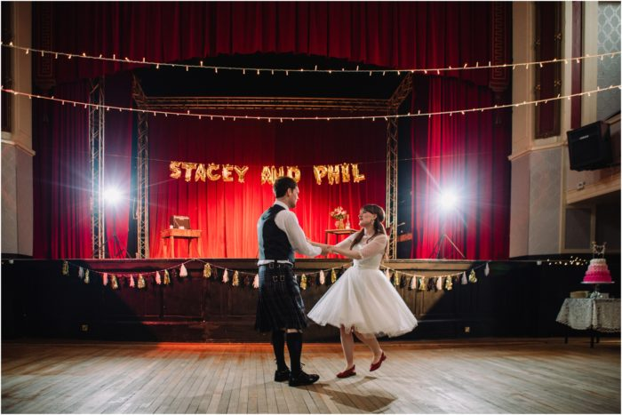 Rock n roll vintage wedding at Summerhall & Portobello Town Hall - Stacey & Phil