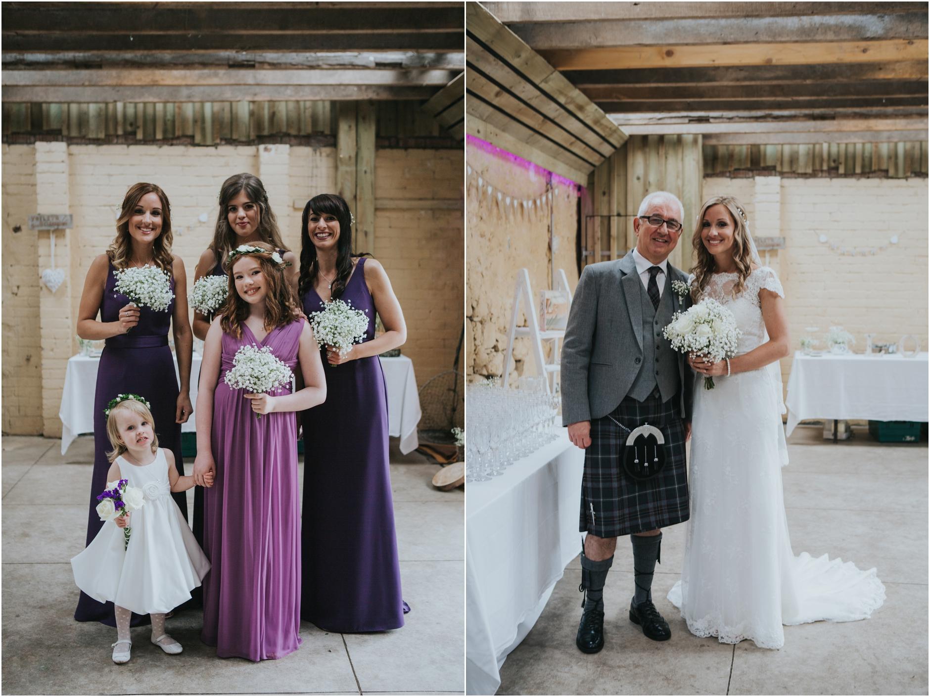 rustic barn wedding at comrie croft