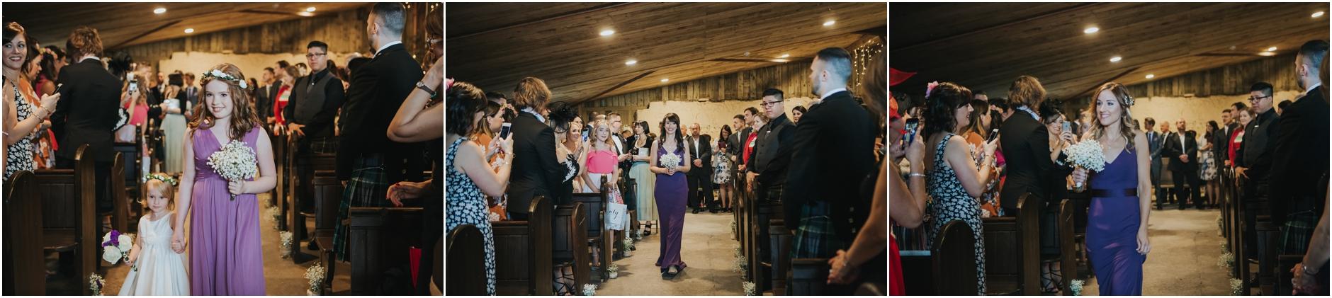 alternative barn wedding comrie croft