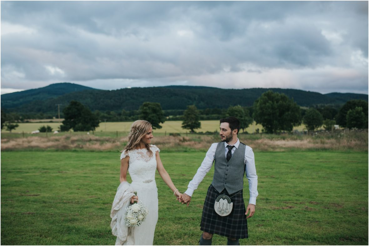 comrie croft summer wedding