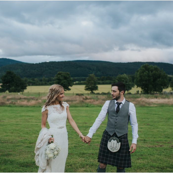 Relaxed, rustic DIY wedding at Comrie Croft - Laura & Jason