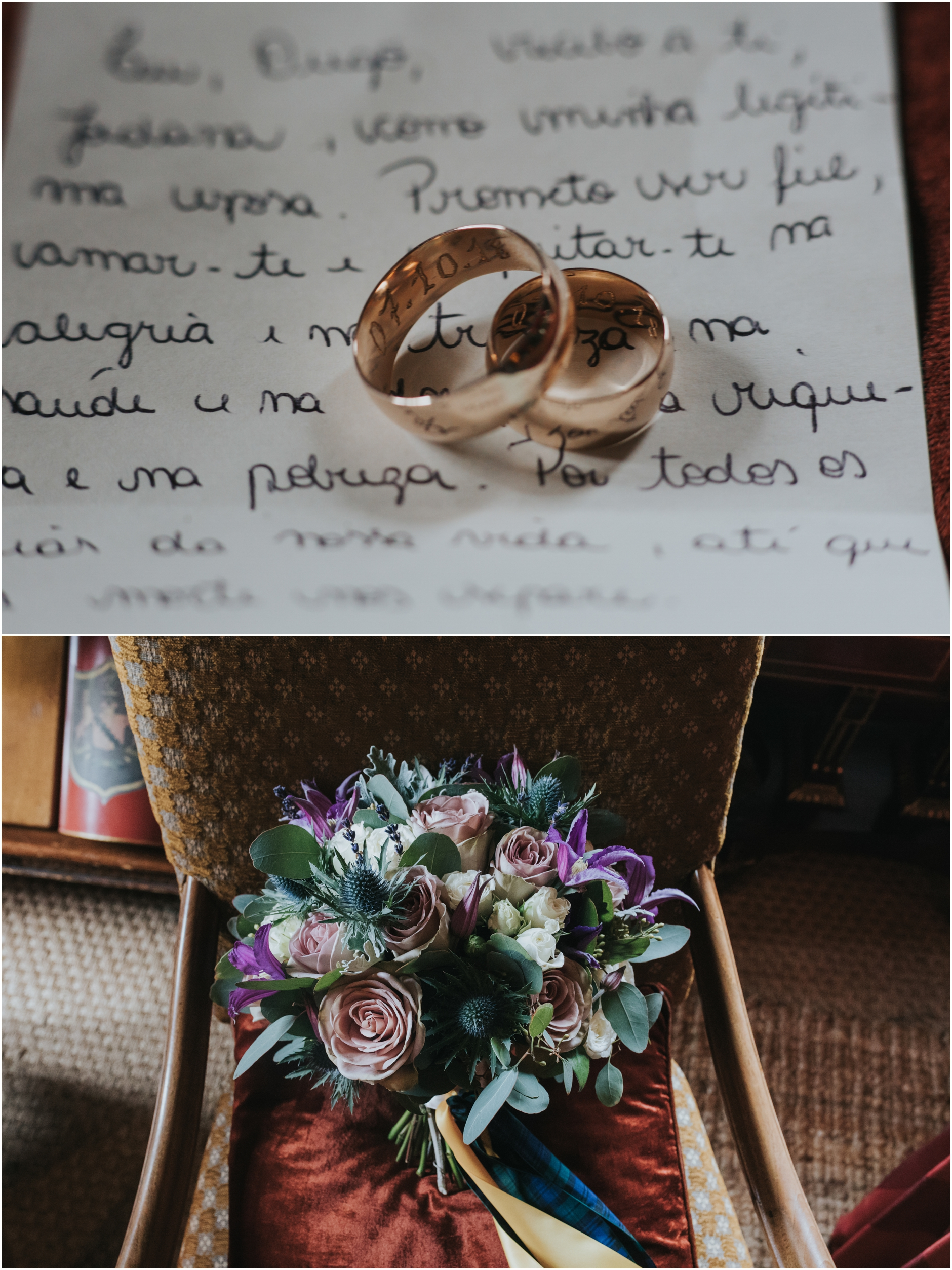 wedding rings and vows scottish elopement photographer