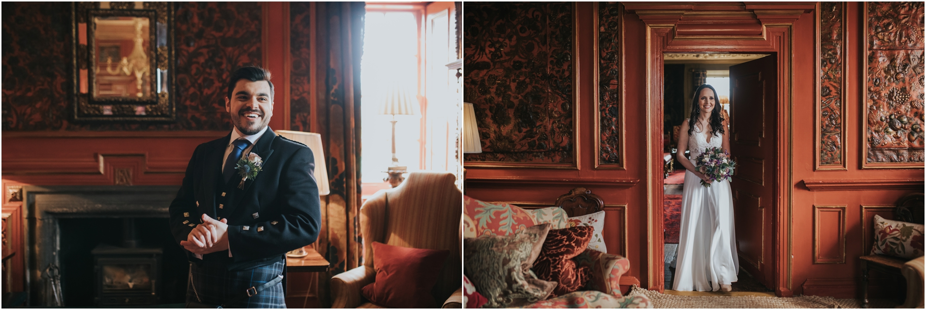 prestonfield house elopement edinburgh wedding photographer