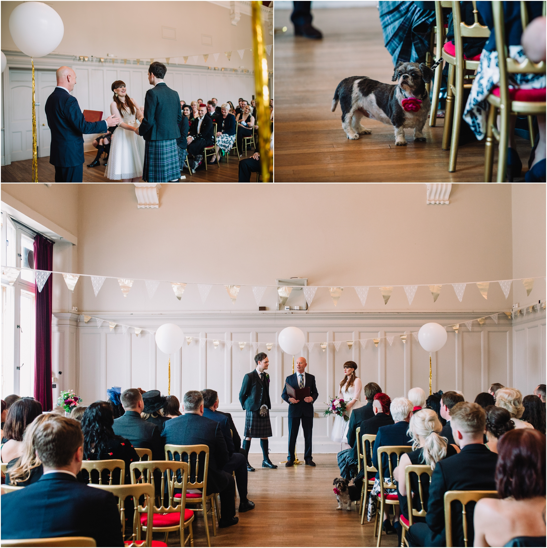 rock n roll alternative wedding photographer summerhall edinburgh scotland