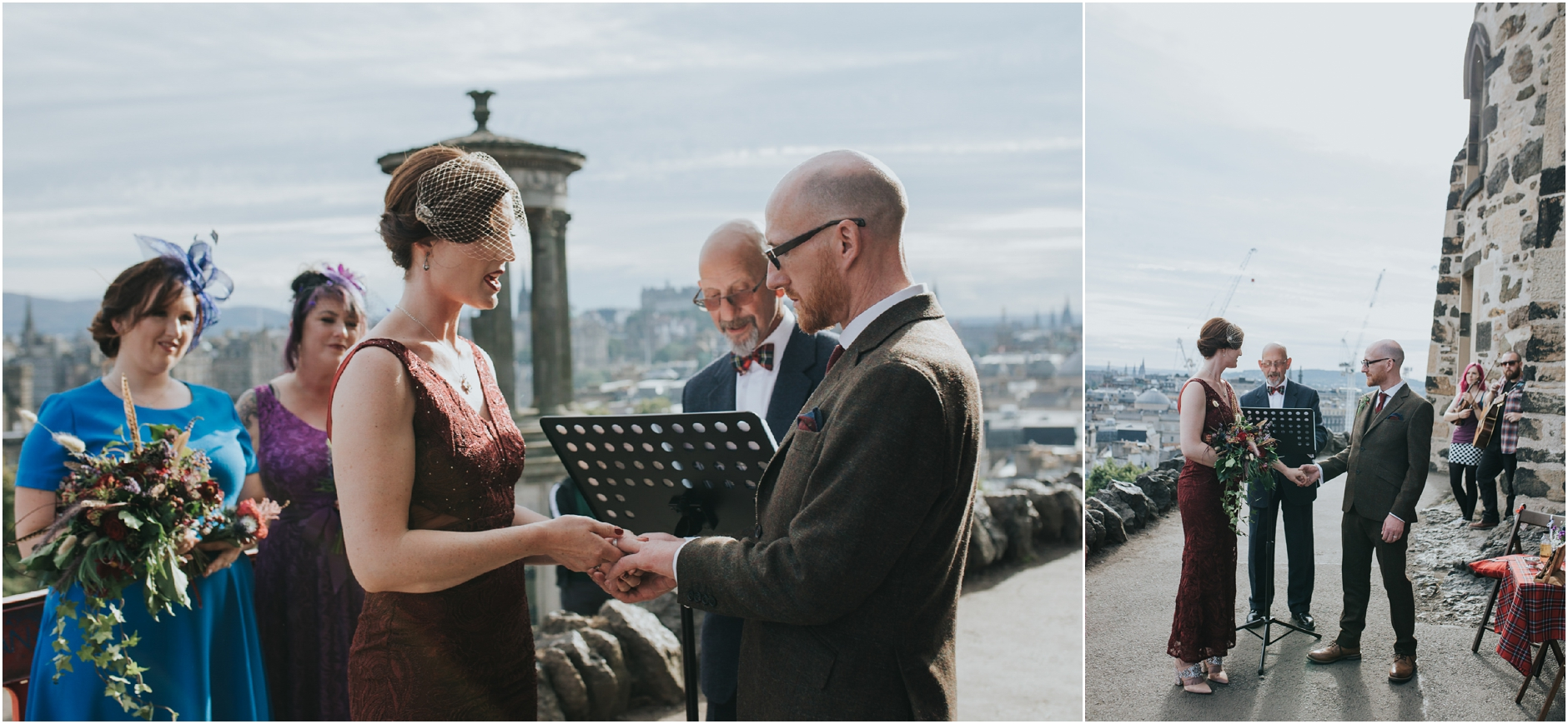 calton hill elopement edinburgh wedding photographer