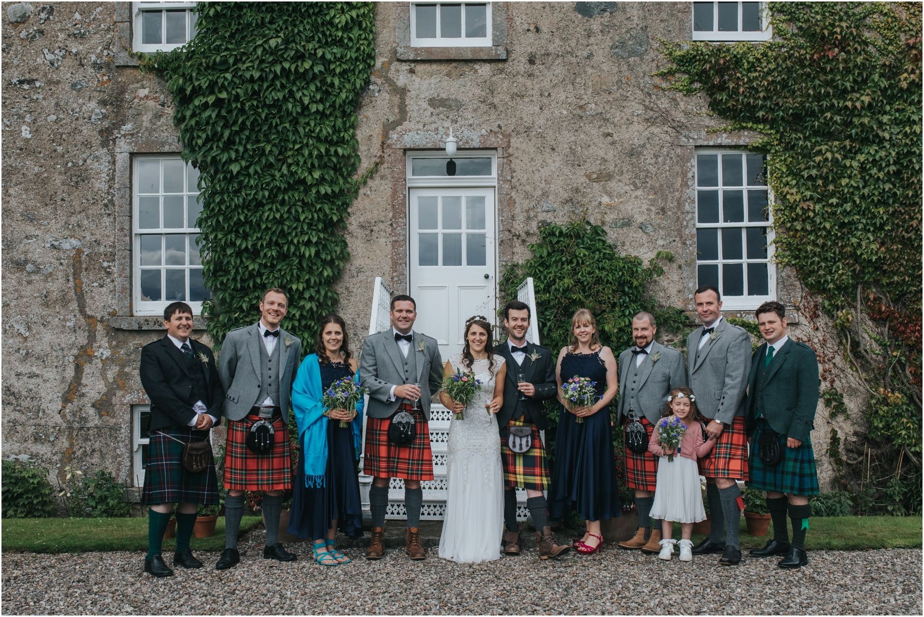 scottish farm wedding photographer family portraits