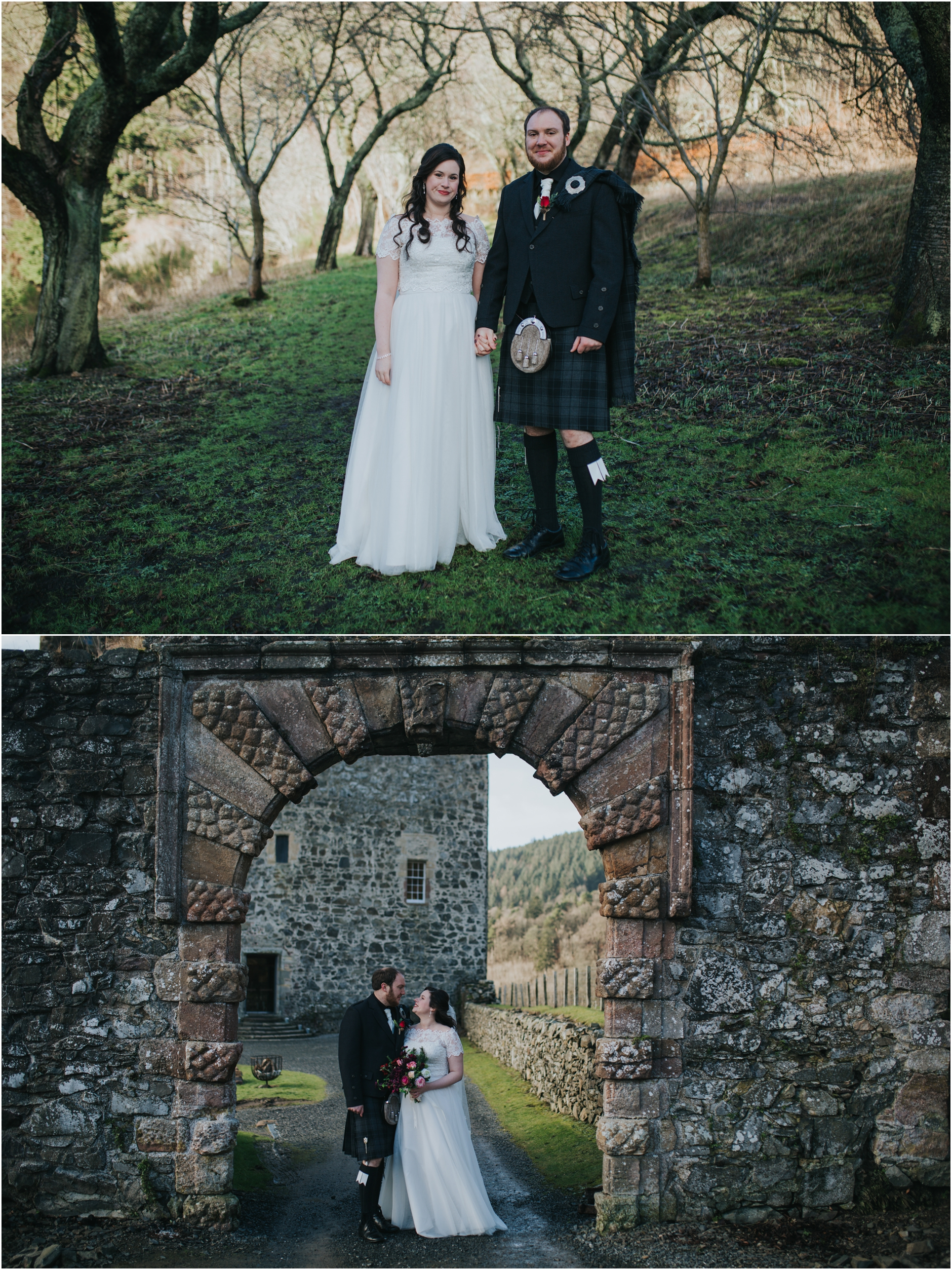 neidpath castle scottish castle wedding peebles photographer