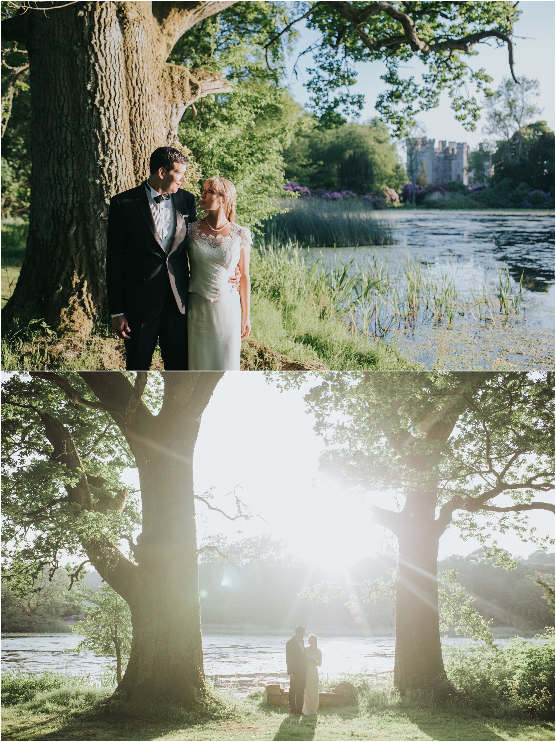 duns castle summer scottish elopement