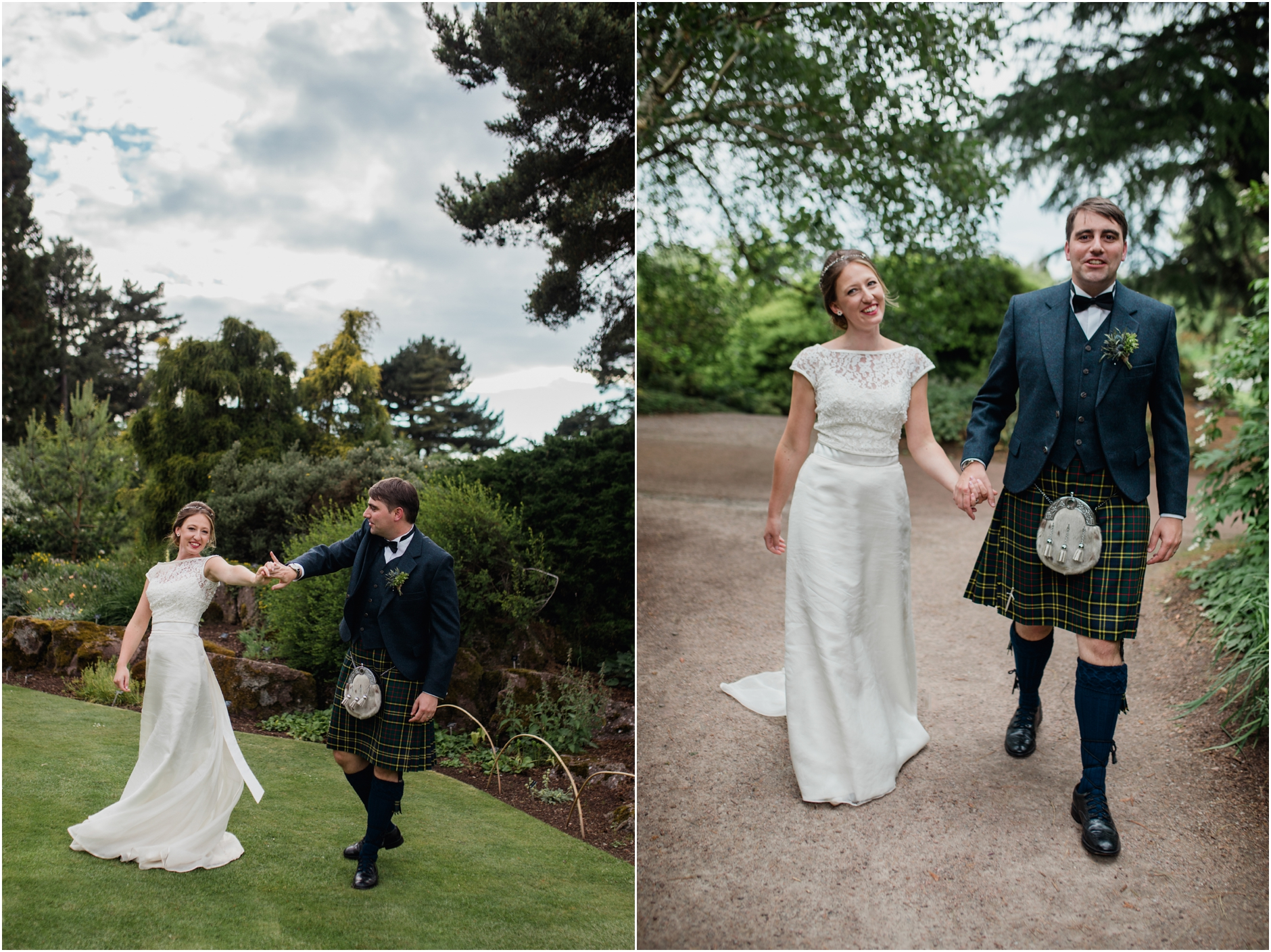 summer scottish weedding at botanical gardens edinburgh